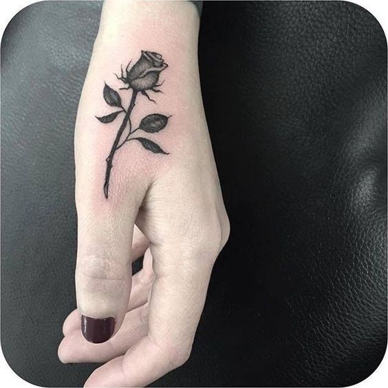 Pin By Adrienne Prouty On Yesssssss Small Rose Tattoo Rose Hand Tattoo Neck Tattoo