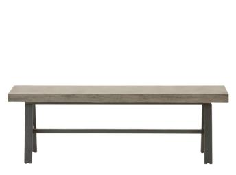 Edson Gartentisch Beton Und Metall Made Com Mobilier De Jardin Design Banc Exterieur Table Banc