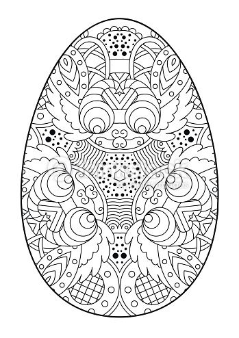 Zentangle decorative Easter egg. | Libros Para Colorear | Pinterest ...