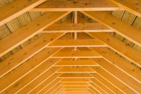 How To Insulate Roof Rafters Doityourself Com Vaulted Ceiling Bedroom Vaulted Ceiling Roof Trusses