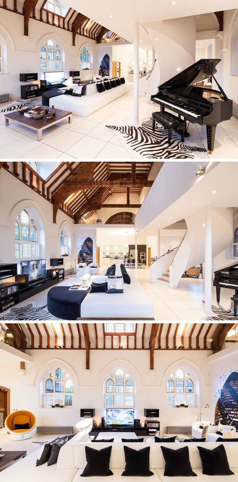 This Old Church Was Converted Into A Bright And Contemporary House ...
