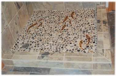 Decorative ceramic tile trout, hand made trout shower tiles for ...