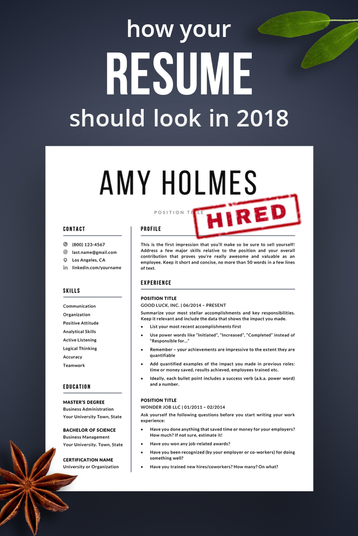 Professional Resume Template Instant Download CV