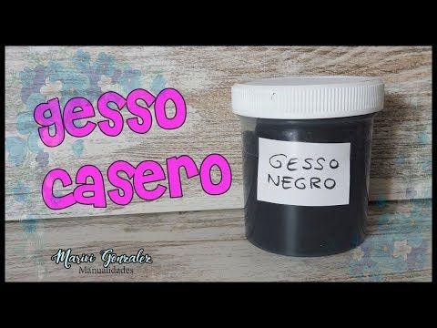 Gesso casero-Receta para hacer geso casero muy fácil y barato #gesso