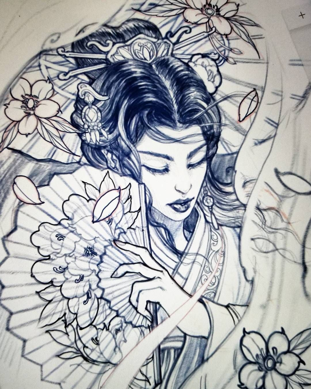 Sketch For A Japanese Sleeve: Japanese Sleeve Tattoos