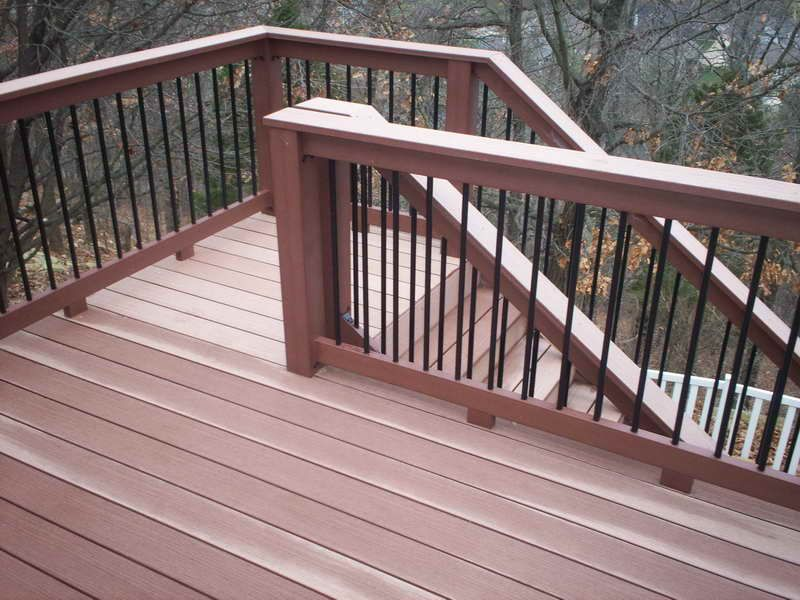 Elevated-Deck-Plans-Stair-Railing-Ideas | Decks | Pinterest | Deck ...
