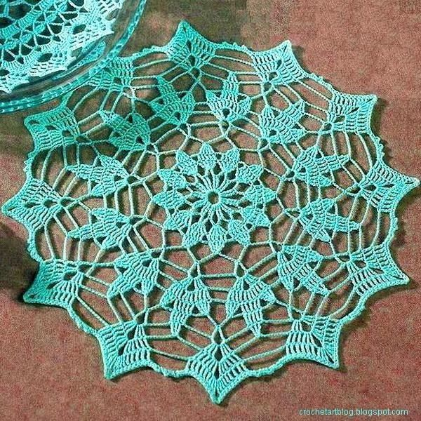 Leaf Doily Crochet Stitches And Doilies Pinterest Leaves
