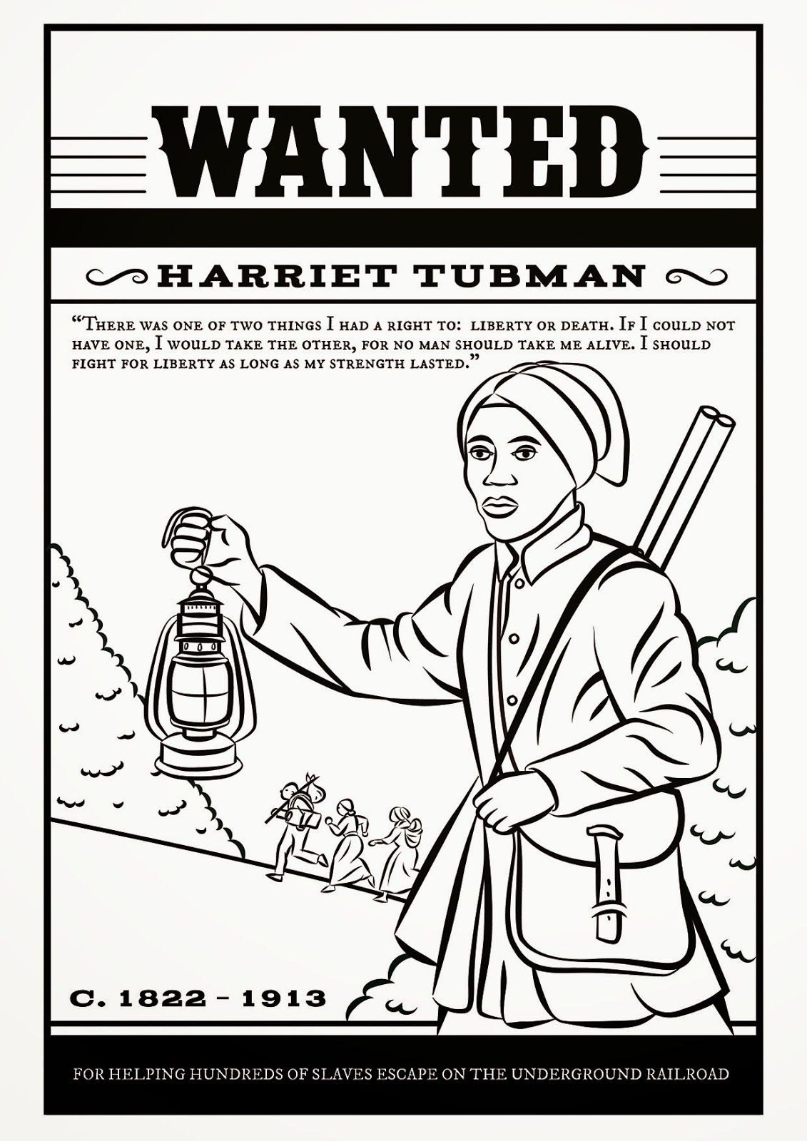 Harriet Tubman Coloring Page Black History Printables Harriet