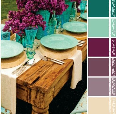 Purple and teal color scheme For the Home Pinterest Teal color
