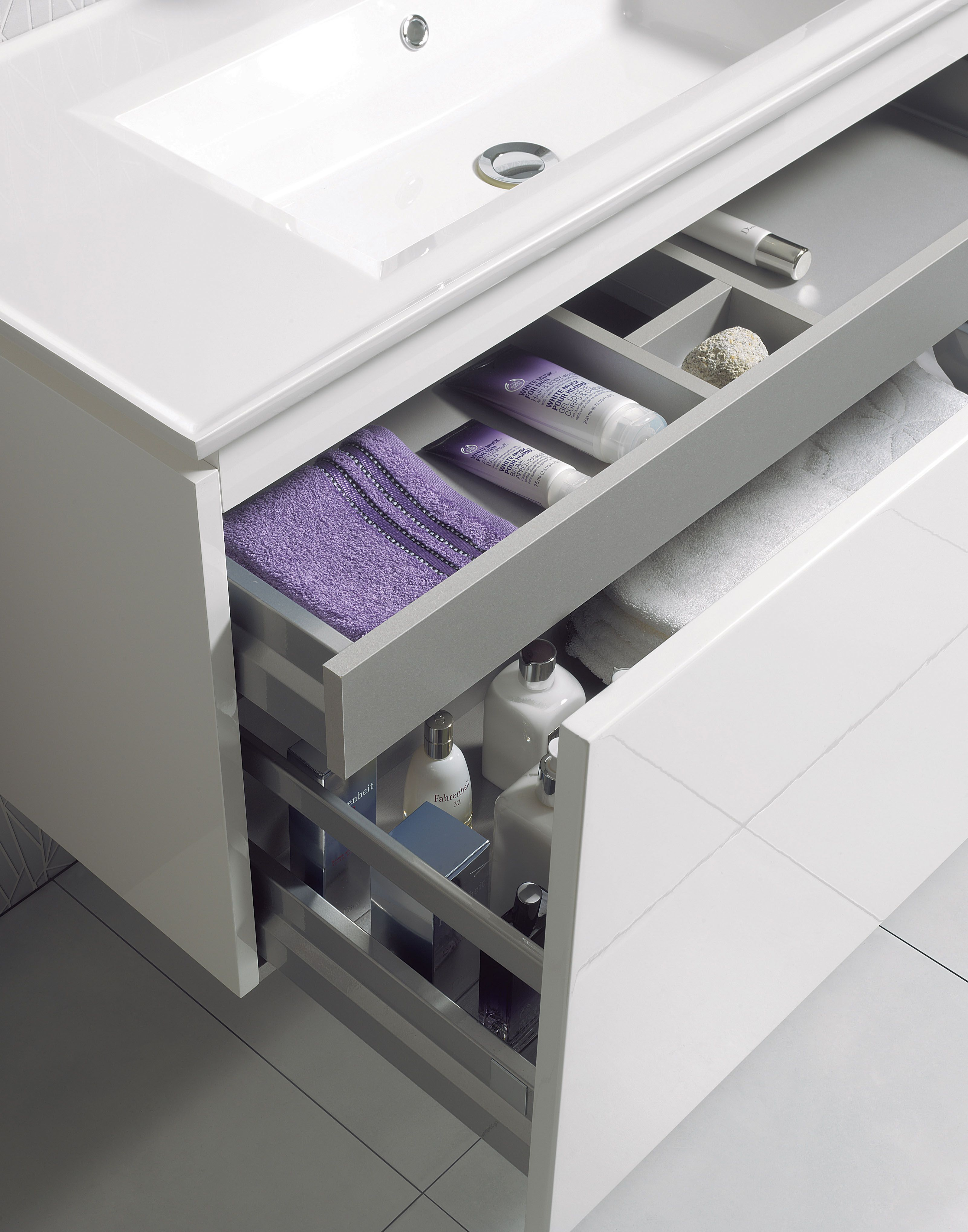 Bathroom units uk - Linea White Gloss Bathroom Furniture Unit Basin From Crosswater Http Www