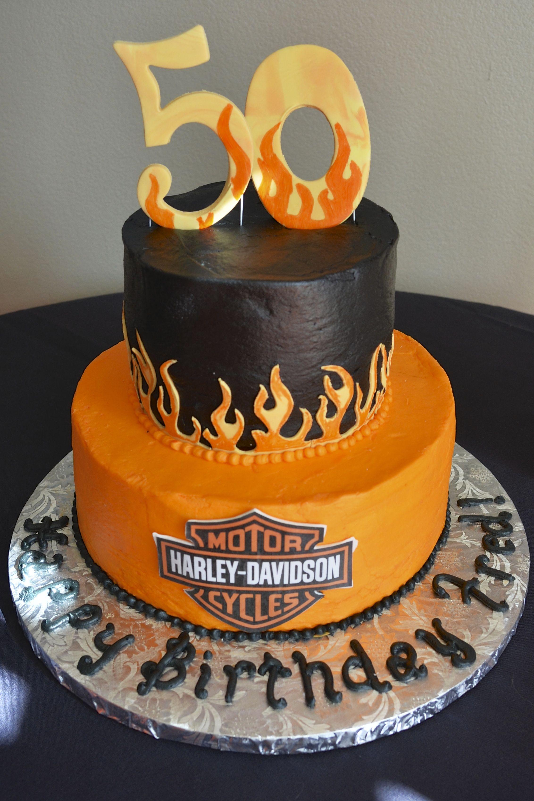 Harley Davidson Birthday Cake Dessert Decoration Harley
