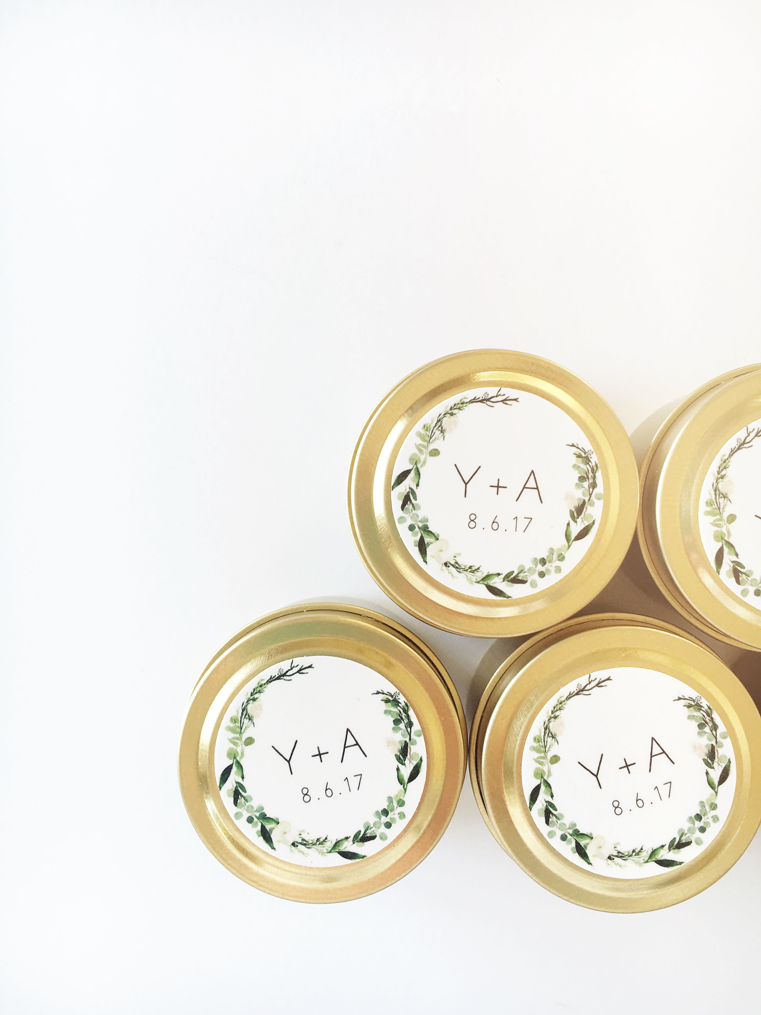 Personalized Candles for Wedding Favors | Giftwedding.co