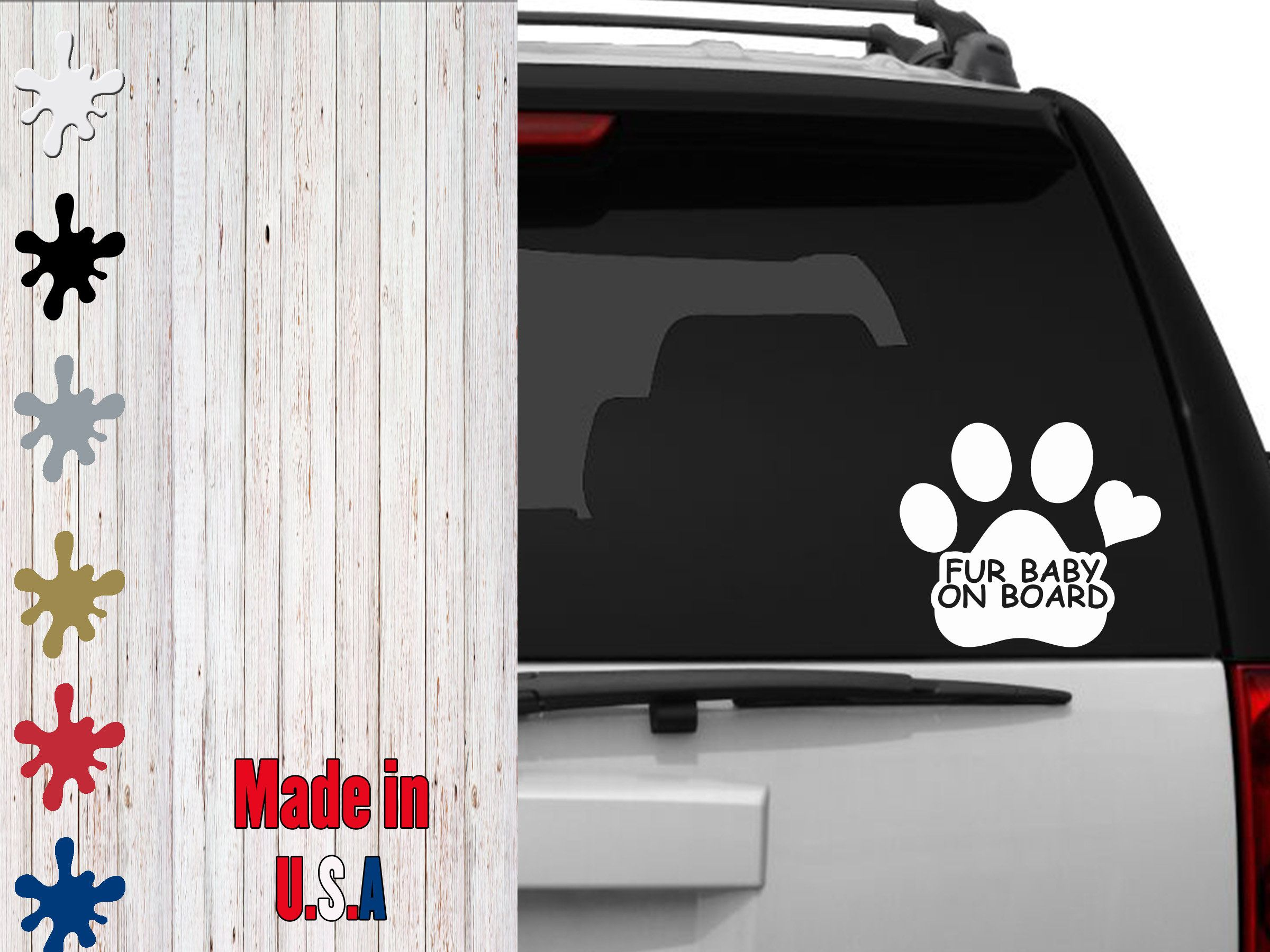 Fur Baby On Board Decal Choose Your Size Car Decal Laptop Decal By Veiledtrove On Etsy Family Pet Baby Love Mybab Fur Babies Laptop Decal Car Decals [ 1800 x 2400 Pixel ]