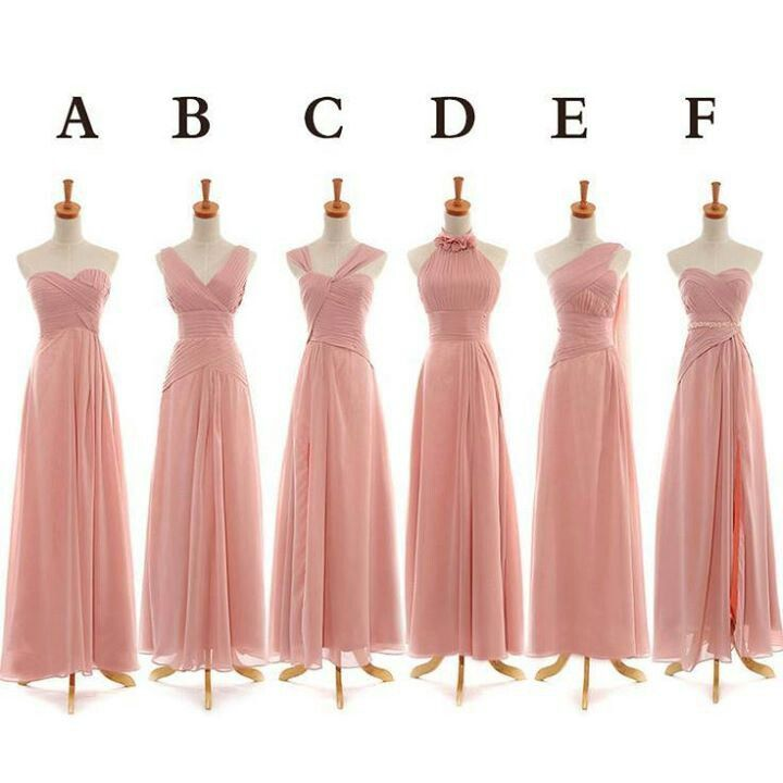 Cute bridesmaid dresses. Love the color and the variety of styles ...
