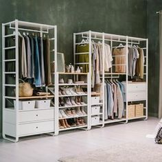 IKEA ELVARLI system Ikea dressing room, Ikea closet