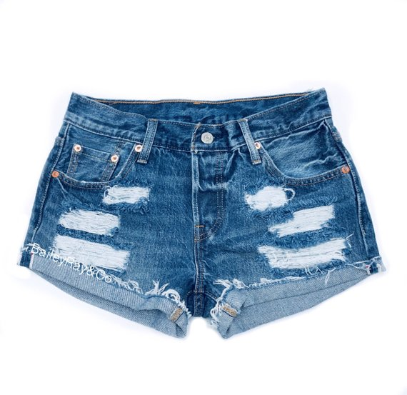 516a693678 ALL SIZES Women Levi High Waisted Denim Shorts - distressed, small medium  large extra large extra ex
