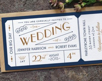 Movie Ticket Wedding Invitation U2013 Etsy UK