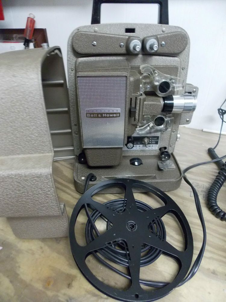 Vintage Bell Howell 8 Mm Autoload Film Projector Works Model 245