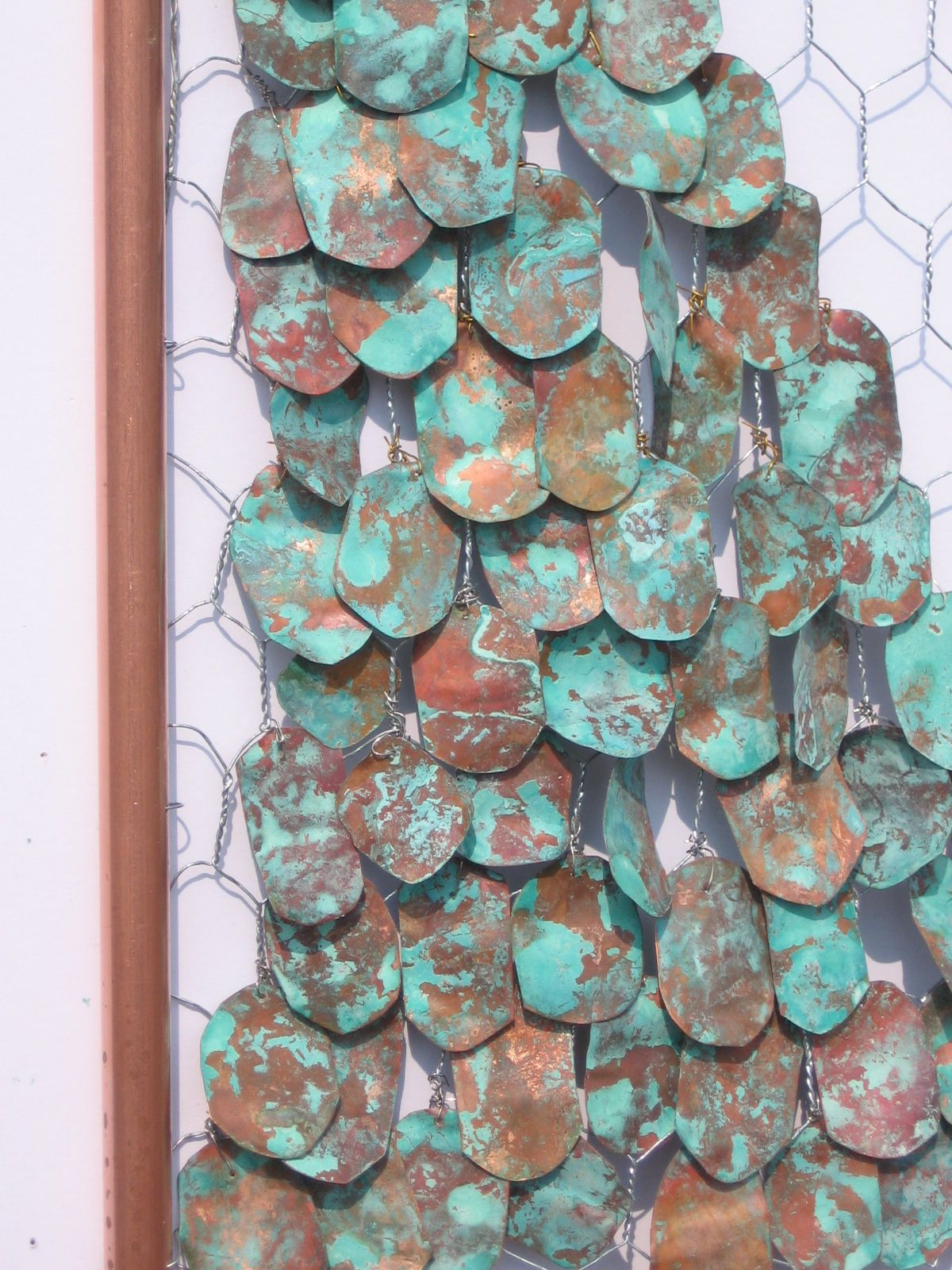 Chicken wire and rusted copper | Installation Inspiration ...