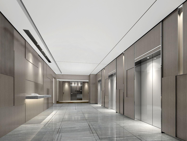 Lobby Interior, Elevator Lobby
