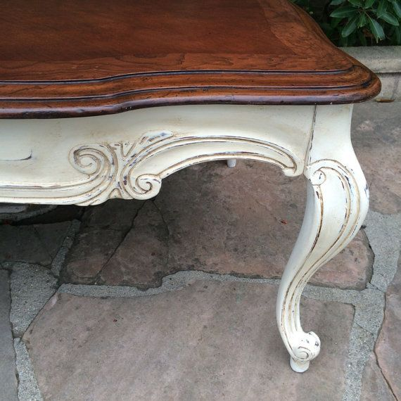 Long Coffee Table Legs: French Provincial, Solid Wood, Long Coffee Table