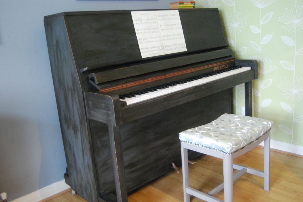 Danemann Upright Piano up-cycled in shabby chic style