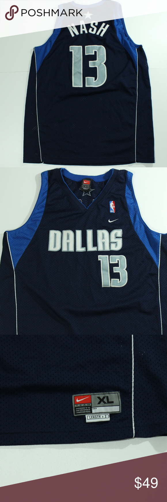 info for f2af8 dc907 VTG Nike Dallas Mavericks Jersey Steve NASH #13 XL VTG Nike ...