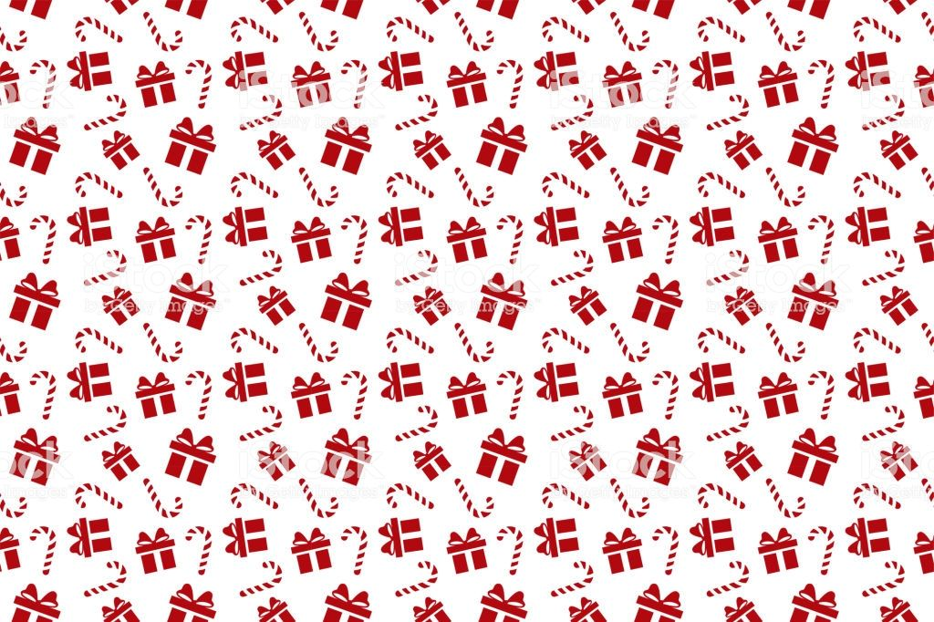 Merry Christmas Pattern Seamless Gift Background Endless Texture