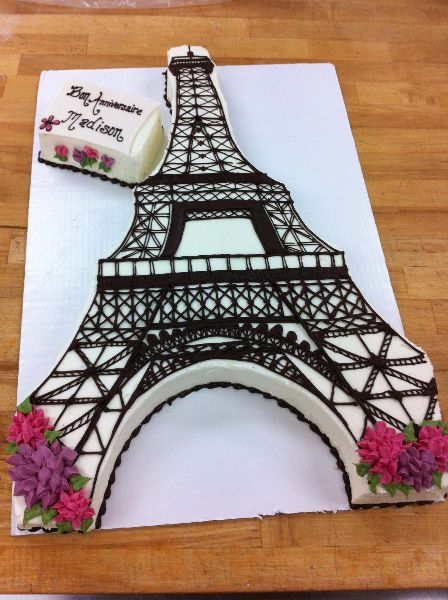 Eiffel Tower Ice Cream Cakes