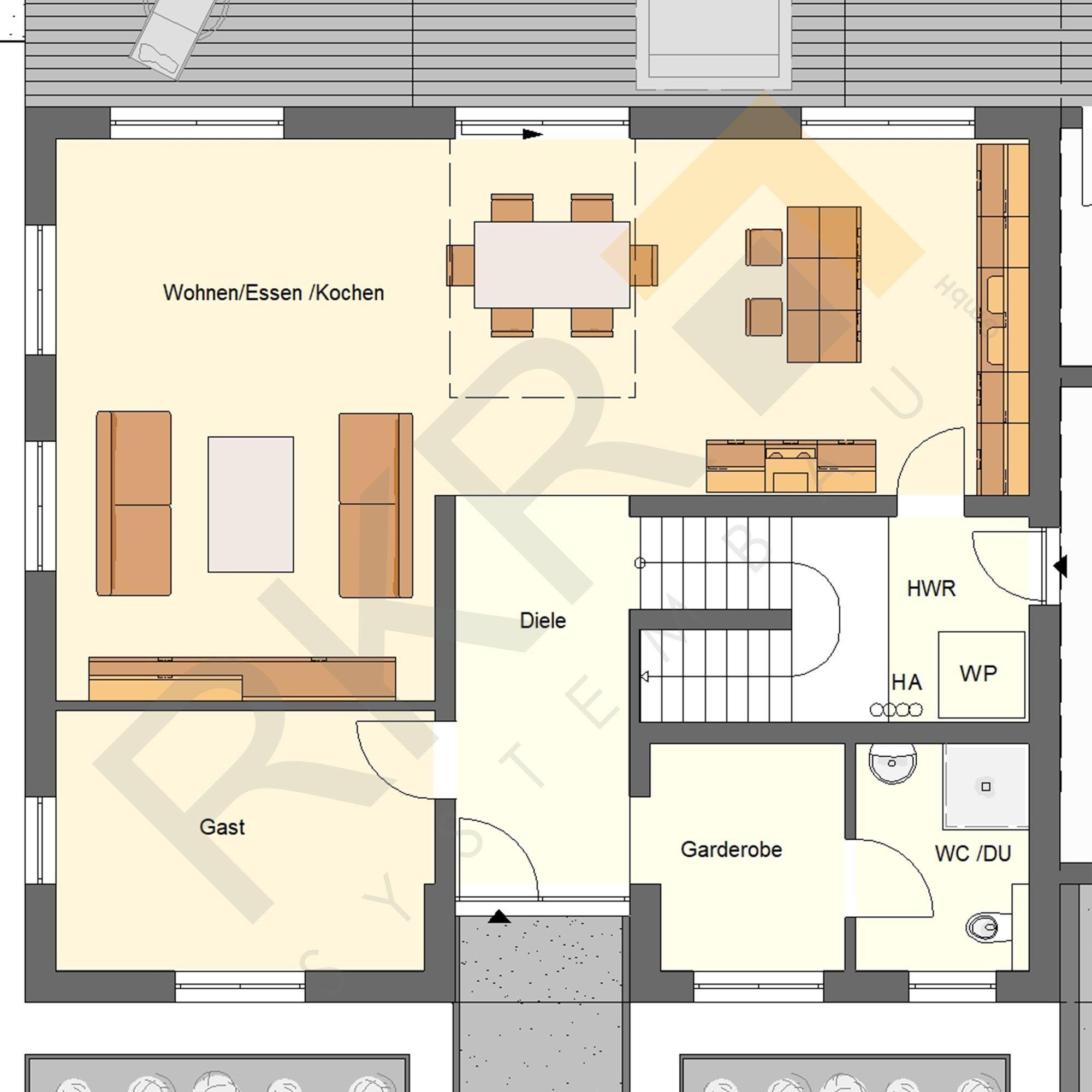 Stadtvilla Waldmohr 189 Grundriss Plan