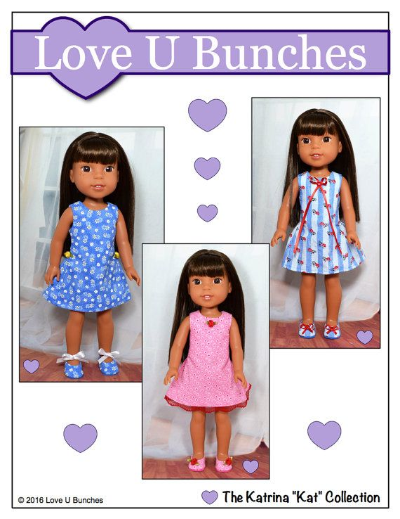 pixie faire love u bunches polka dot party dress doll clothes