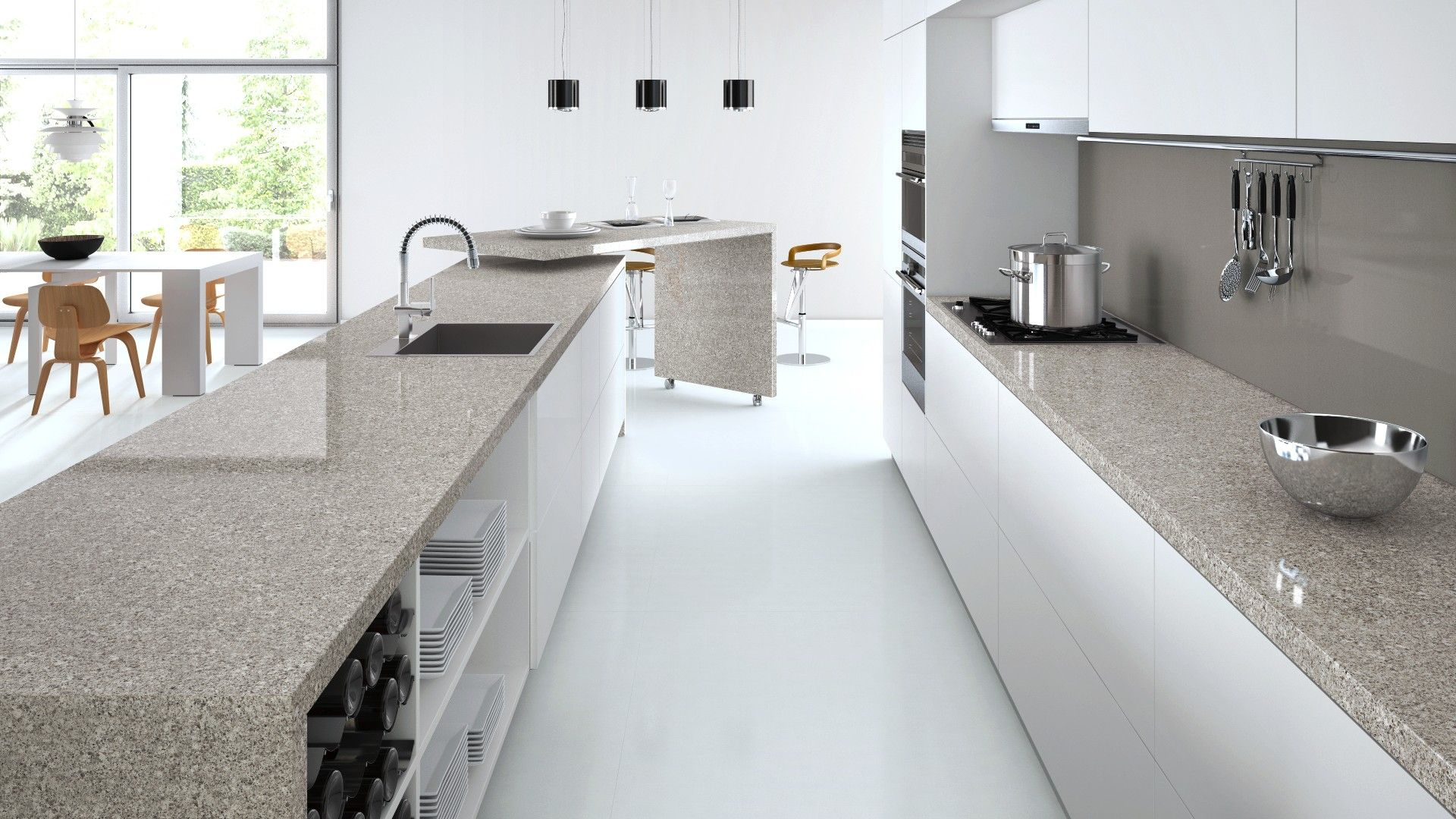 Atlantic Keuken Caesarstone Atlantic Salt Furniture Kitchen Kitchen Flooring