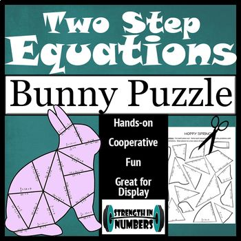 Two-Step Equations Bunny Rabbit Puzzle | Equation, Student work and ...