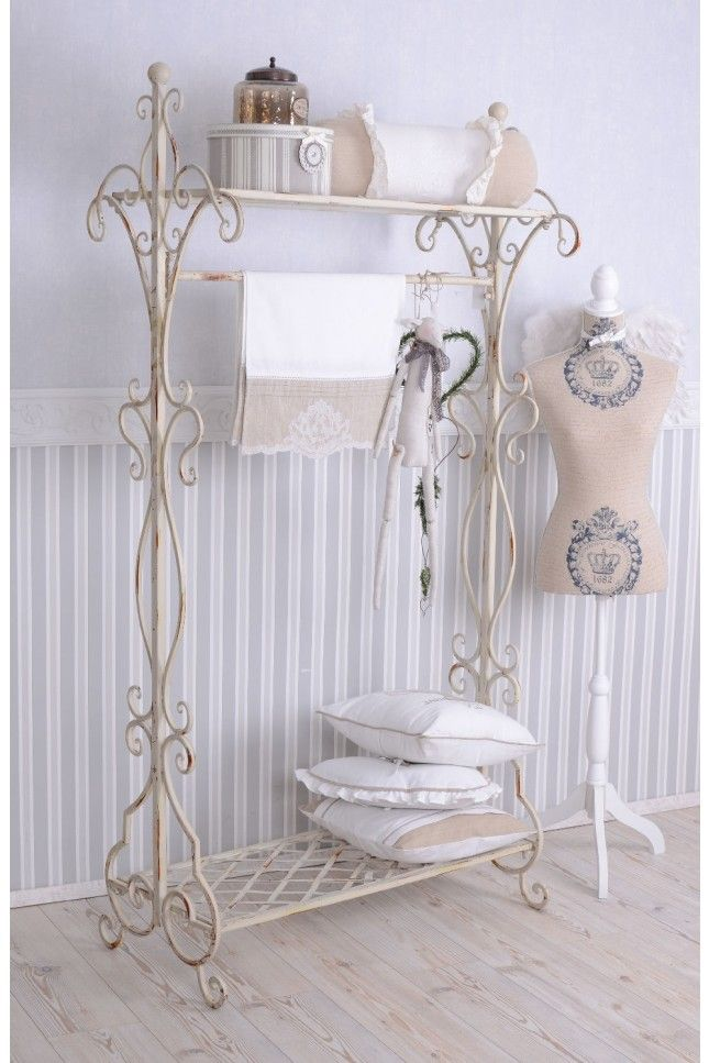 Photo of Nostalgia Wardrobe Shabby Chic Wardrobe Stands Weiss Metal Stands