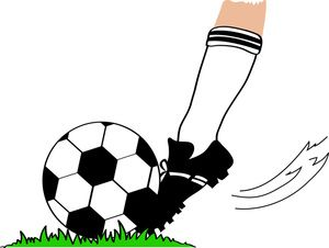 soccer ball soccer clipart image football player kicking a football rh pinterest com soccer clipart free download Boys Soccer Clip Art