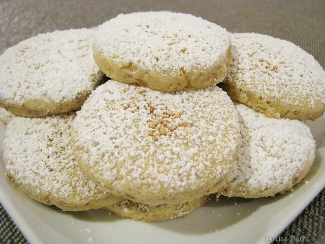 Crumbly and rich-tasting, these lemon-flavored polvorones are traditional cookies from Spain, and especially popular at Christmas time.