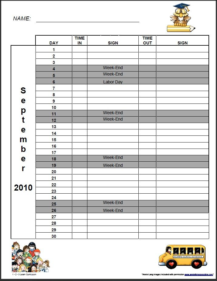 daycare monthly sigh in sheets to the 123 learn online i - monthly sign in sheet template