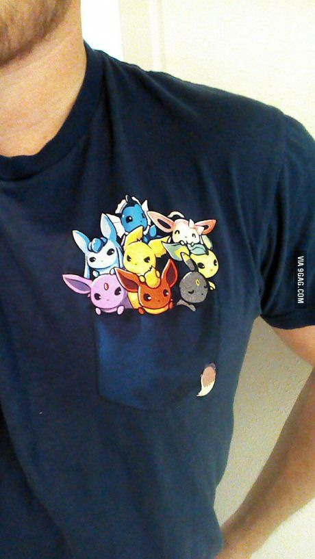 39c414de Gentlemen please. This is a real pokemon shirt. All Eevees. | hair ...