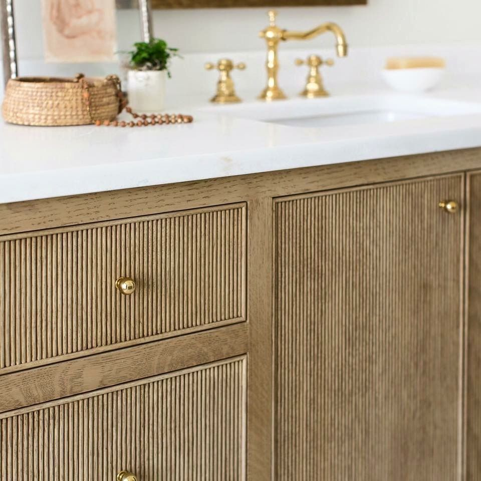 Micro Trend The Ribbed Surface Cabinet Door Styles House Interior Bathroom Design