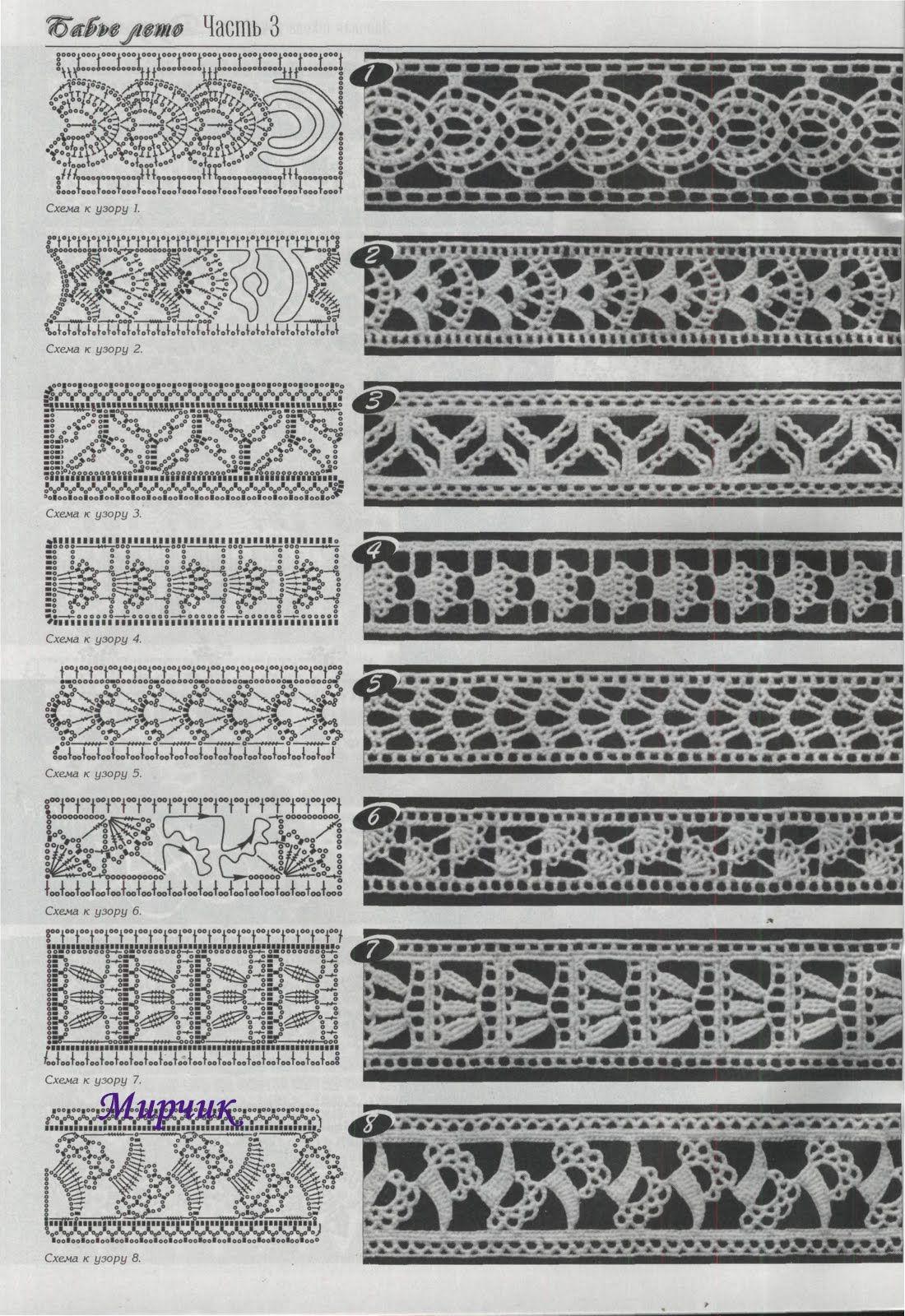 Click to see it bigger. Häkelmuster Borte häkeln- free crochet ...