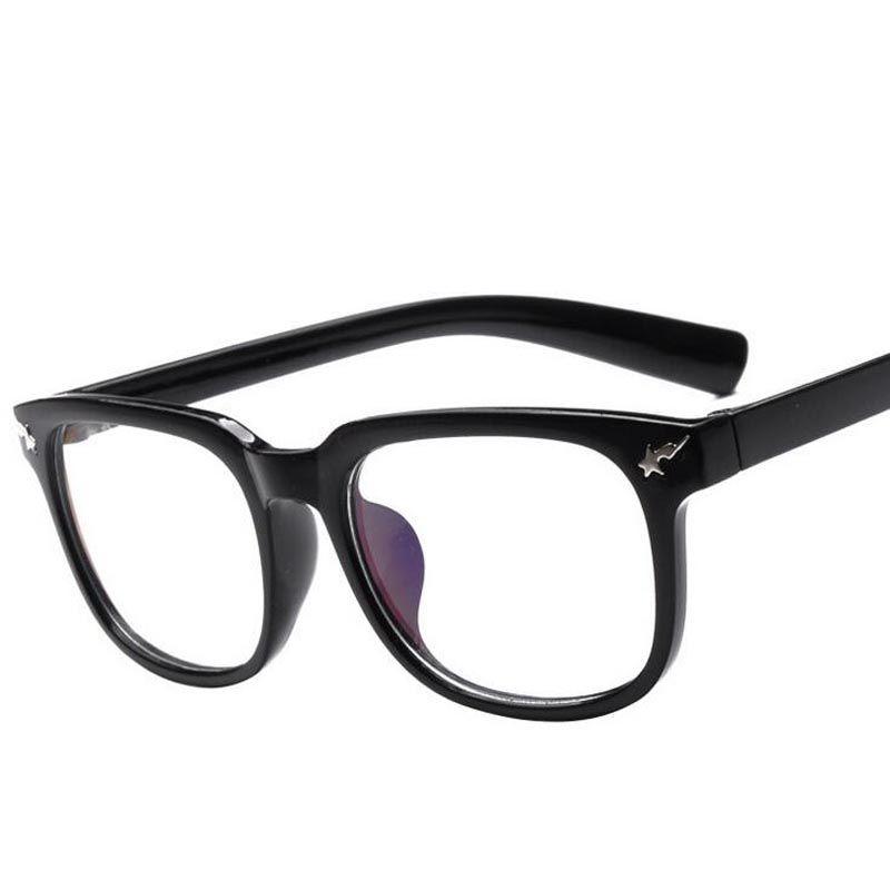 Tide brand ape head lightning stars rivet black full frame glasses ...