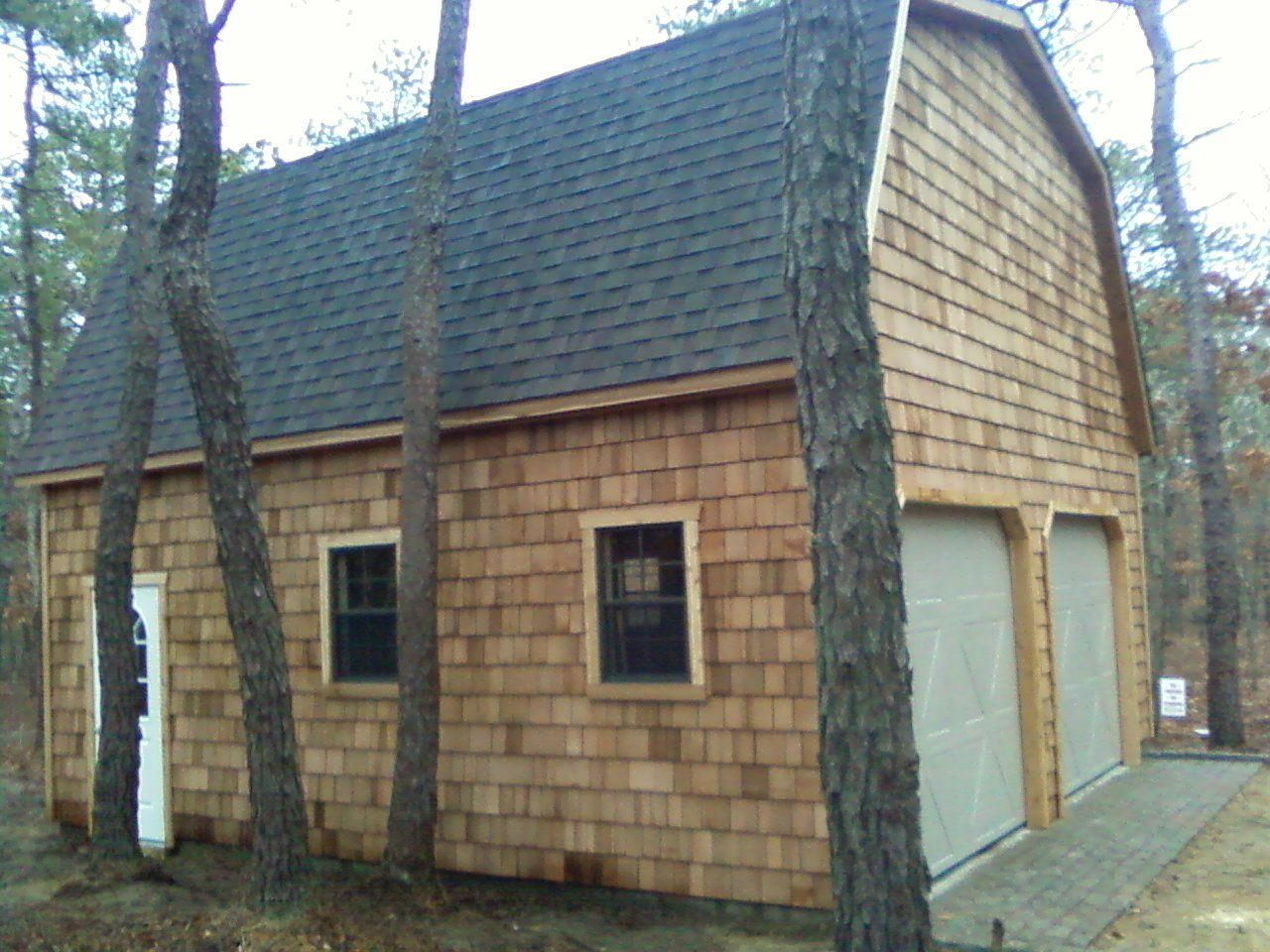 Best 2 Car 2 Story Garage With Cedar Shakes Siding And 30 Year 400 x 300