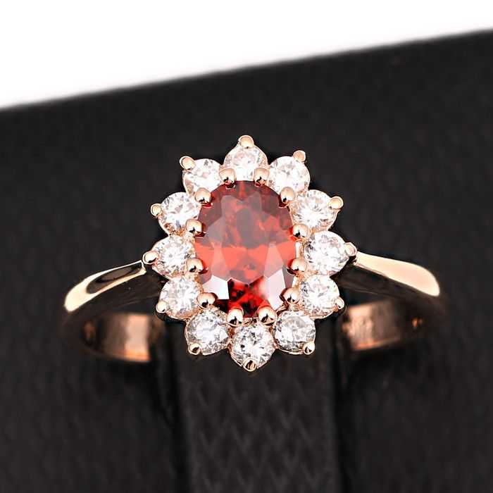 Princess Kate Blue Gem Sapphire 18K White Gold Plated Wedding Finger Crystal Ring Brand women ZYR076