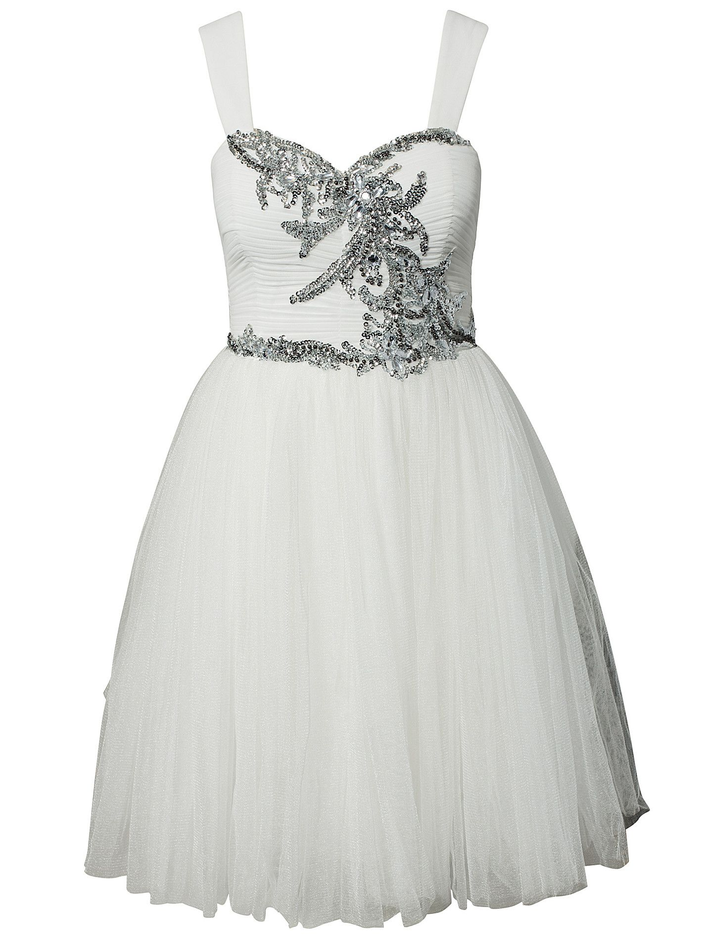 Sequin prom dress nelly exclusive little mistress white party