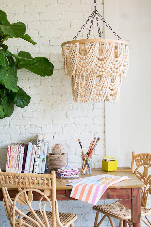 40 DIY Wood Projects We Love | Home Decor | Diy chandelier ...