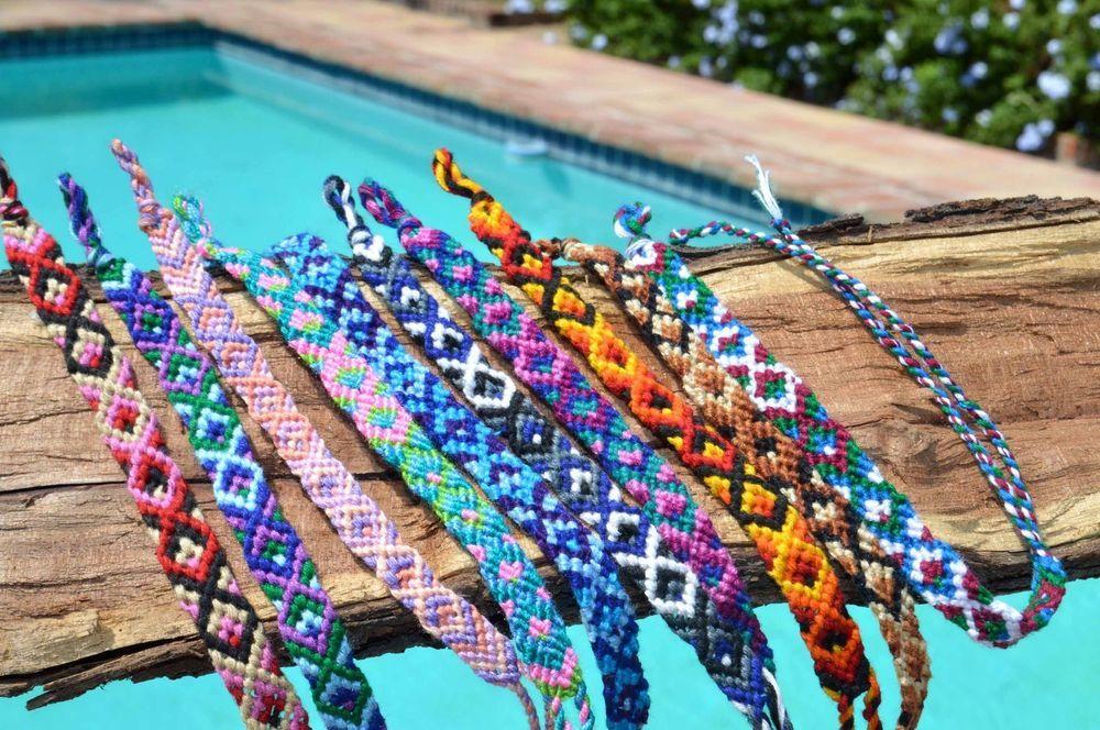 efe0125b332 Woven Cotton Friendship Bracelets -Set of 6 cotton Macrame Wristbands- Boho  Chic #SundanceFairTrade #Friendship #friendshipbracelets