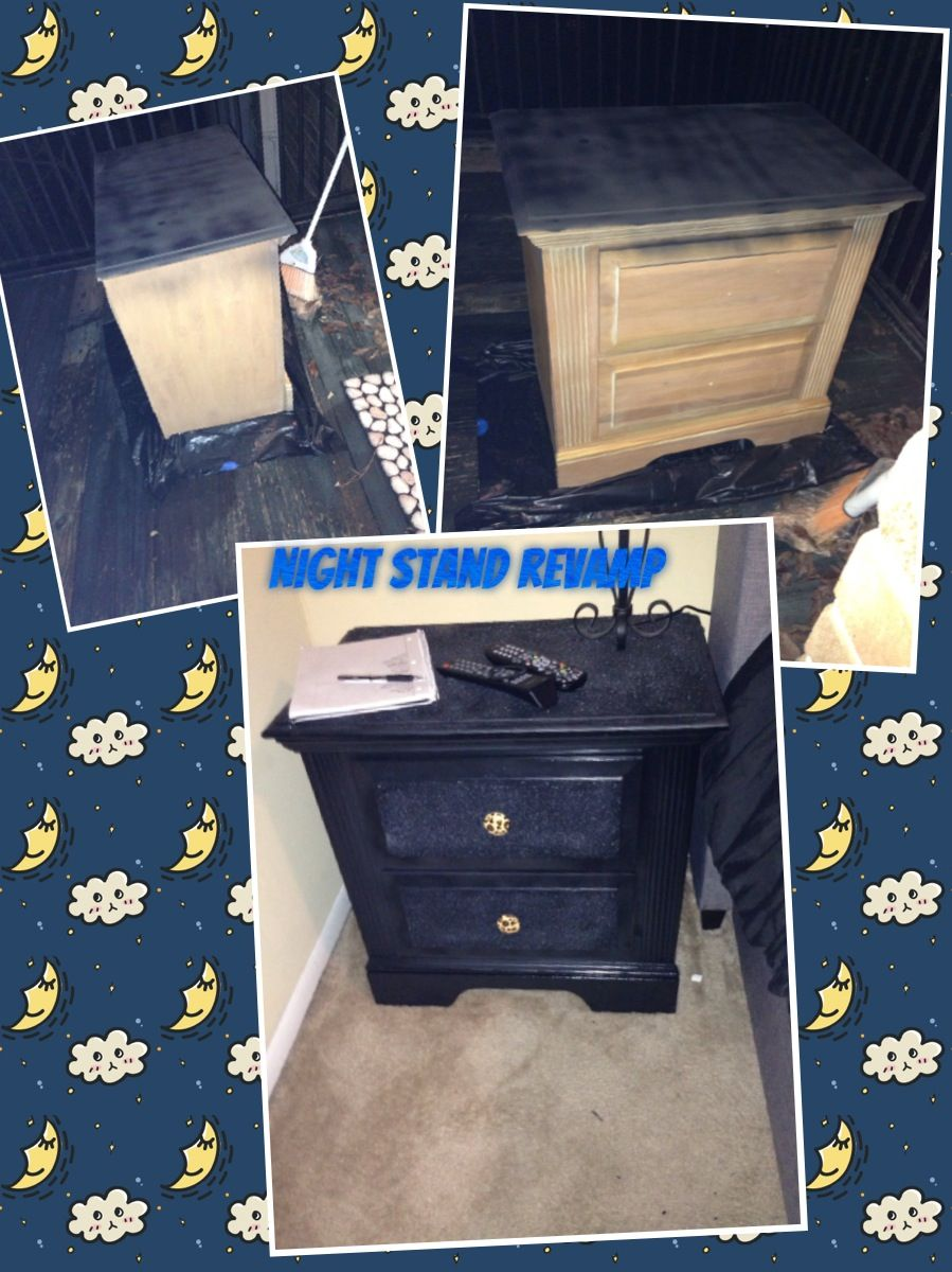 Revamped Dresser From Thrift Store Added Spray Paint Glitter