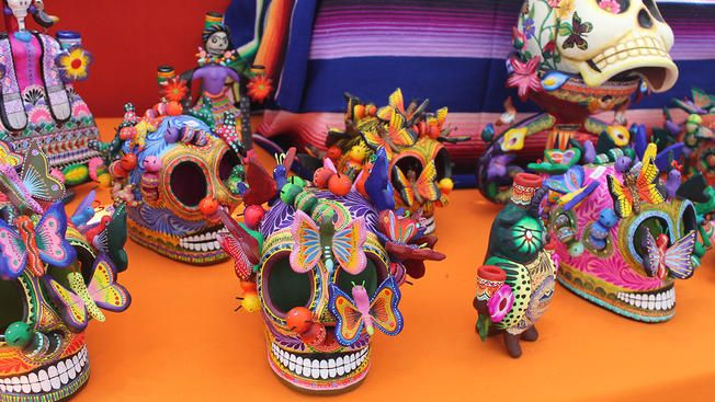 Incredible Day Of The Dead Folk Art Is Always Available In Artes De Mexico Shop