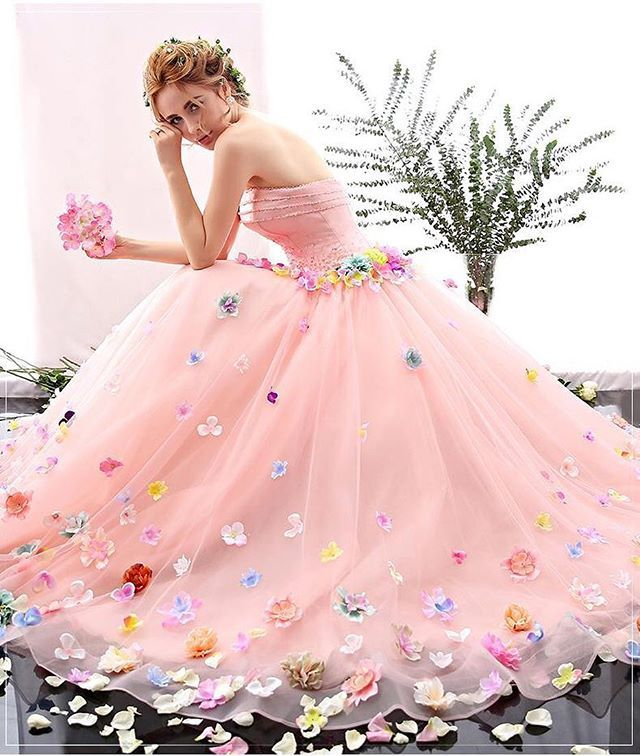 Who says wedding dresses have to be white?!   Potpourri of Pink ...