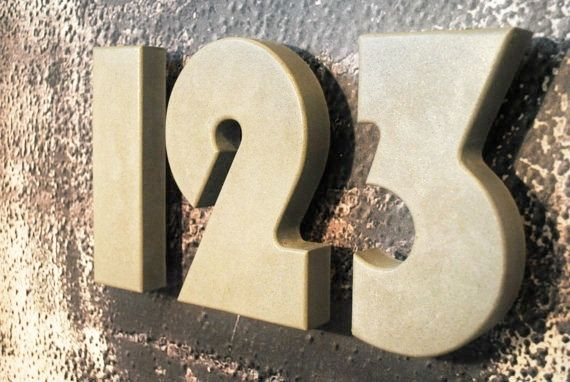 Concrete Address Numbers / Modern House Numbers / House Number Sign / House  Number Plaque